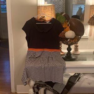 Boden Navy, white and orange dress! 18L